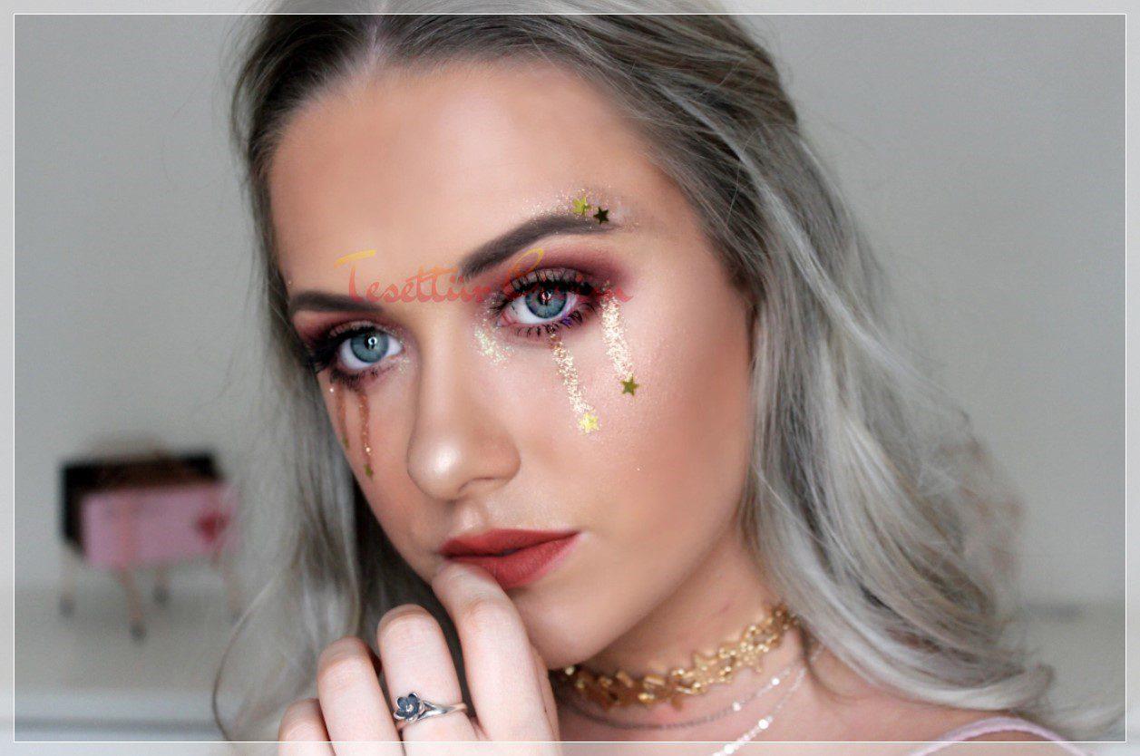 Festival için Glitter Makyaj Örneği