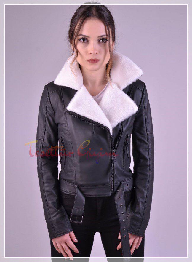 deri kürklü ceket kombini