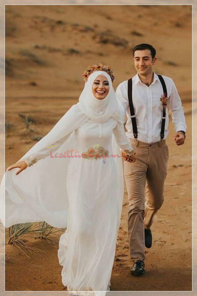 hijab simply wedding dress