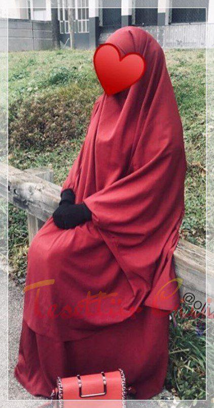 kırmızı cilbab kombin