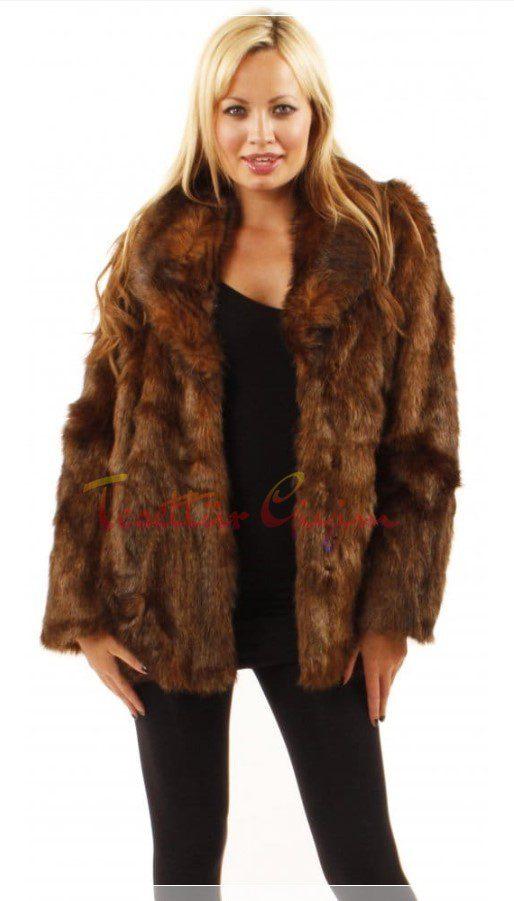 kahverengi kürklü ceket modeli