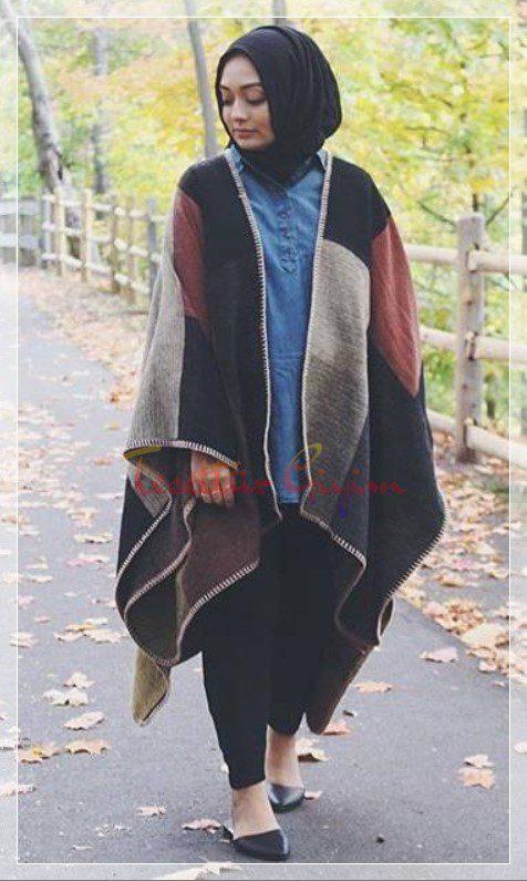 kışlık tesettür giyim renk uyumu