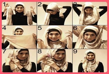 Genç Kızlar İçin Eşarp Bağlama Modeli