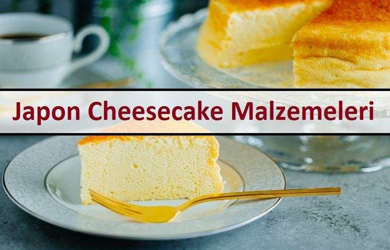 Japon Cheesecake Malzemeleri