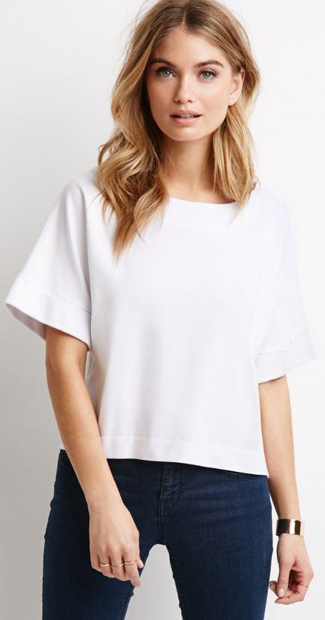 geniş omuzlu kadınlar için yarım kollu bluz