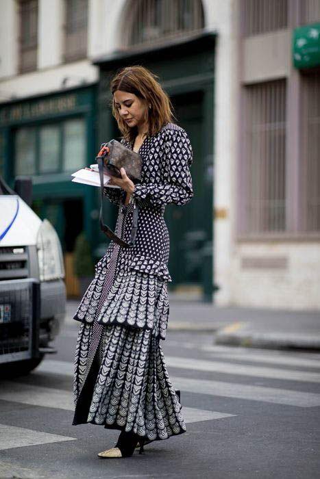 çok katmanlı günlük elbise modeli