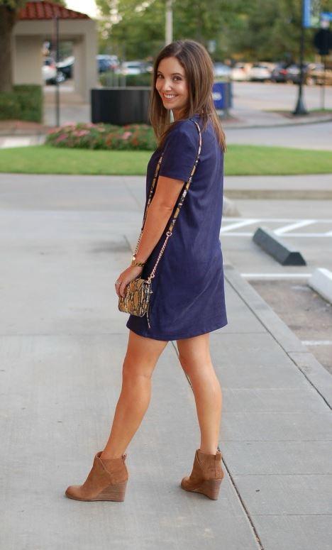Esmerler için Mavi elbise öneri
