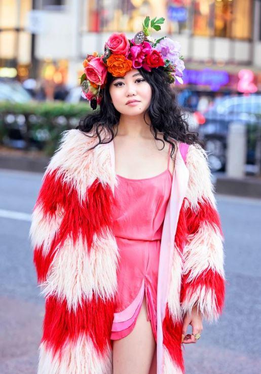 Kırmızı Elbise harajuku modası