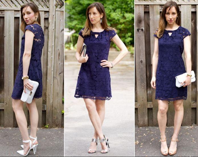 Lacivert Elbise ayakkabı kombinleri