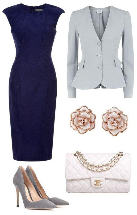 Lacivert elbise ayakkabı iş kombini