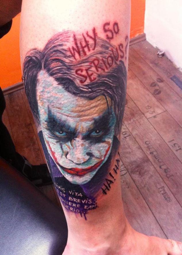 Bacak Joker Dövme Modeli