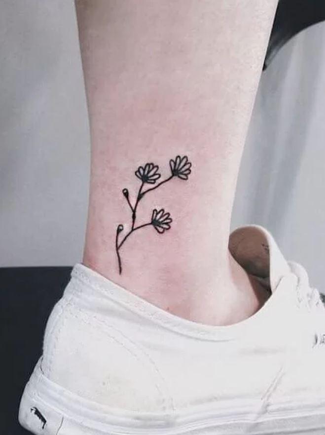 Botanik, Çiçek, Ağaç Desenli Geçici Dövmeler