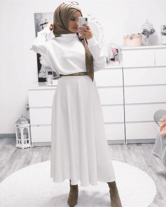 tesettür kışlık elbise seçimi