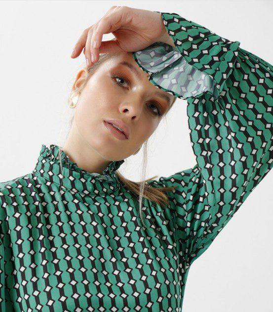 İthal Yeşil Elbise Modeli