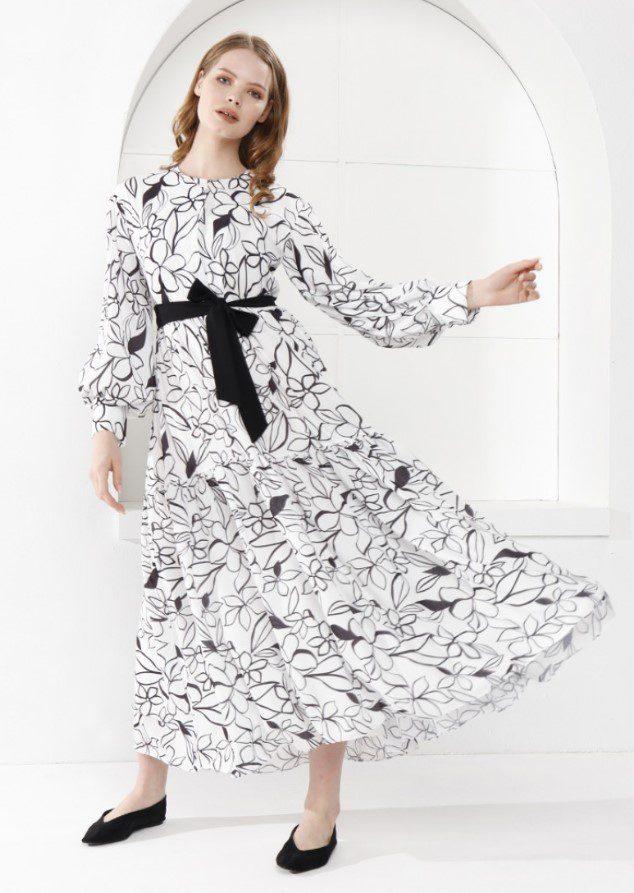 Sevda Karaer Çiçek Elbise Modeli