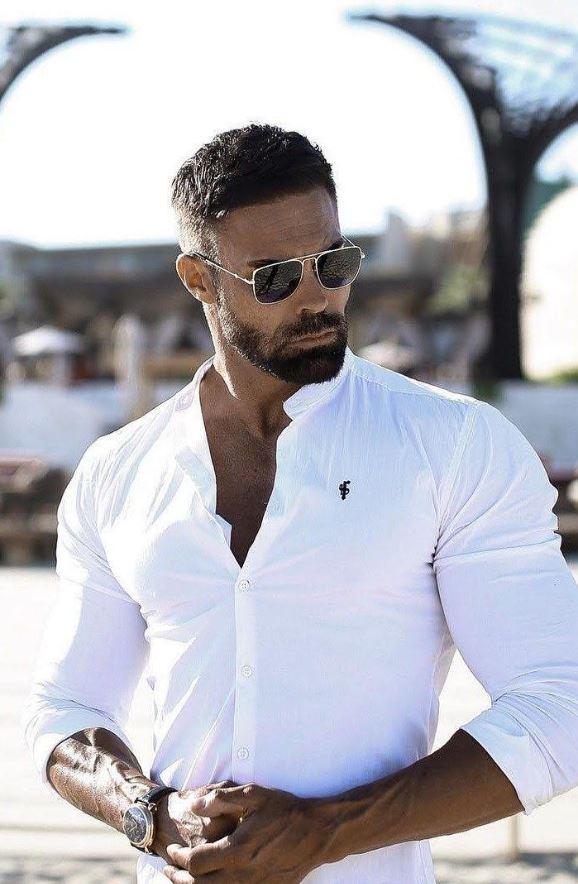Beyaz Gömlek saat kombin