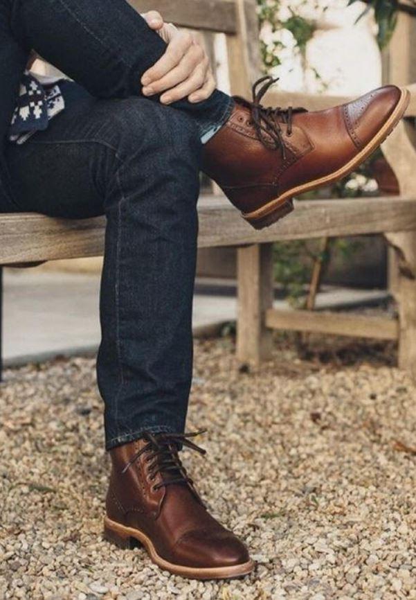 Kahverengi Ayakkabı kot kombin