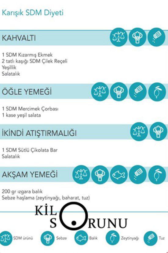 sdm örnek diyet listesi