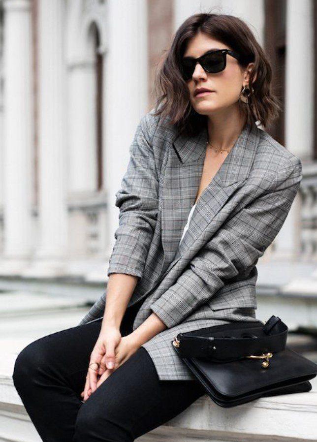 Gözlük Çanta Blazer Ceket Kombini