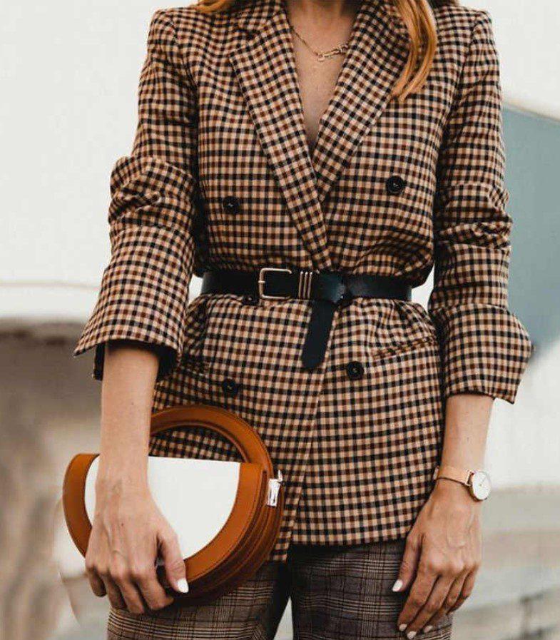 Kruvaze Vintage Bayan Blazer Ceket