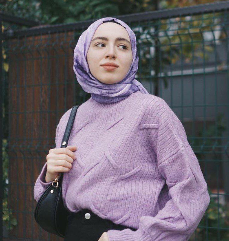 Aslı Afşaroğlu Lila Rengi Kazak