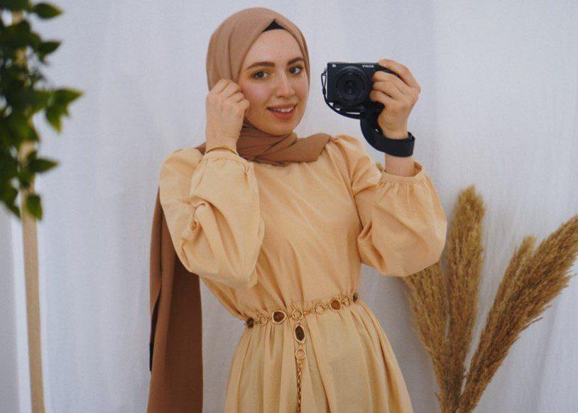 Karpuz Kollu Elbise Bayram Kombini