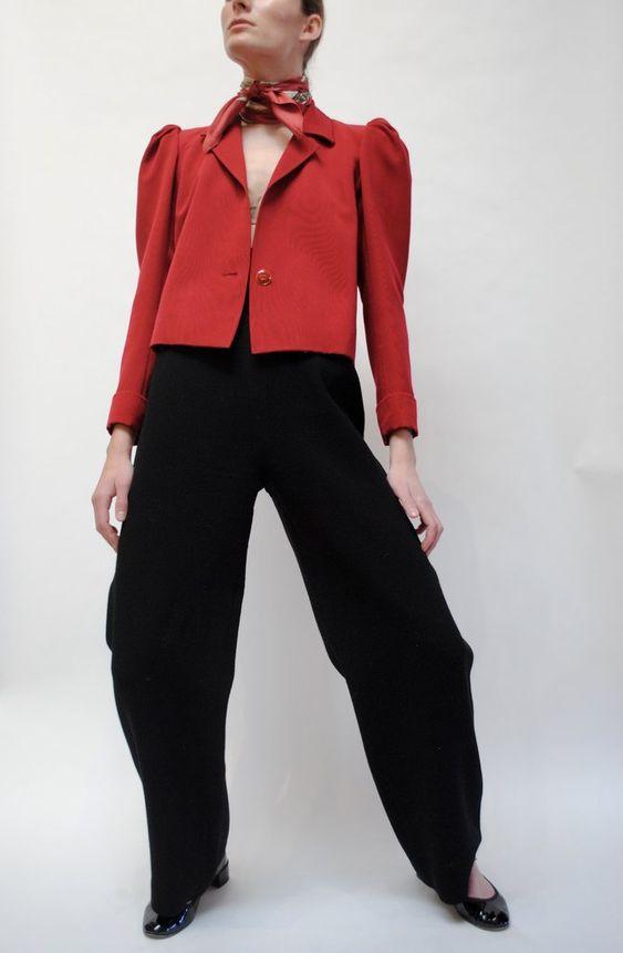 kırmızı peplum ceket modeli