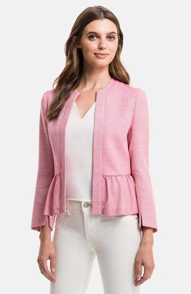 pembe yazlık peplum ceket modeli