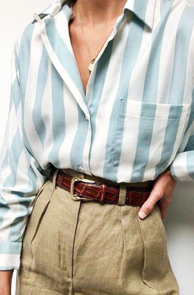 Esmerler için Gömlek Keten Pantolon