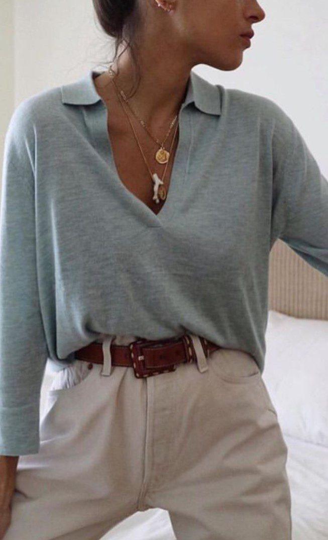 Esmerlere V Yaka Bluz ve Pantolon