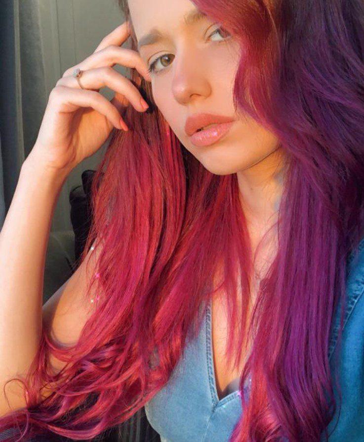 Gamze Karta Kızıl Renk Saç Modeli