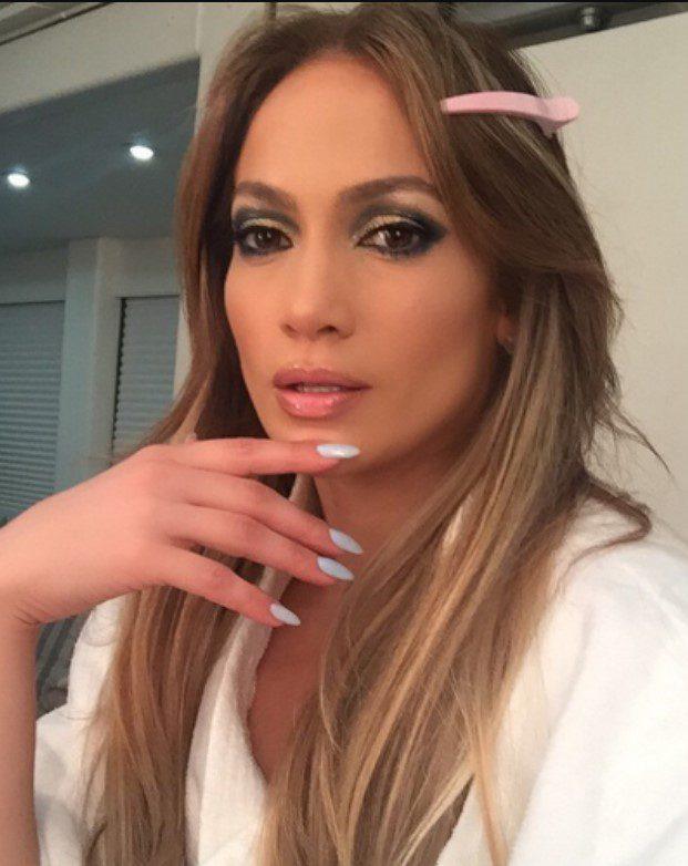 Jennifer Lopez Fındık Kabuğu Saç Ombre