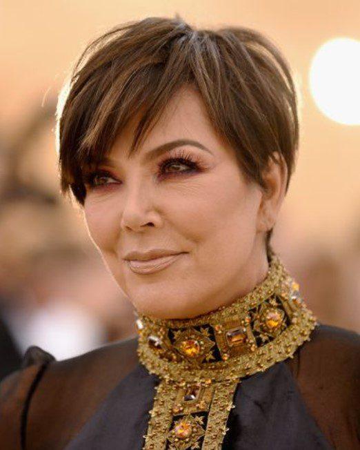 Kris Jenner Açık Fındık Kabuğu Saç