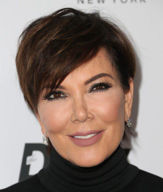Kris Jenner Fındık Kabuğu Kısa Saç