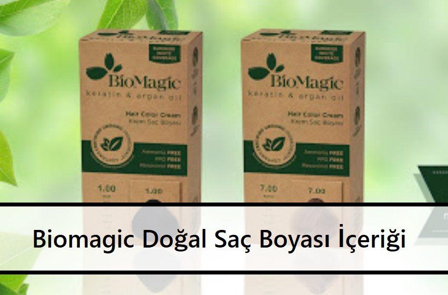 Biomagic Doğal Saç Boyası İçeriği