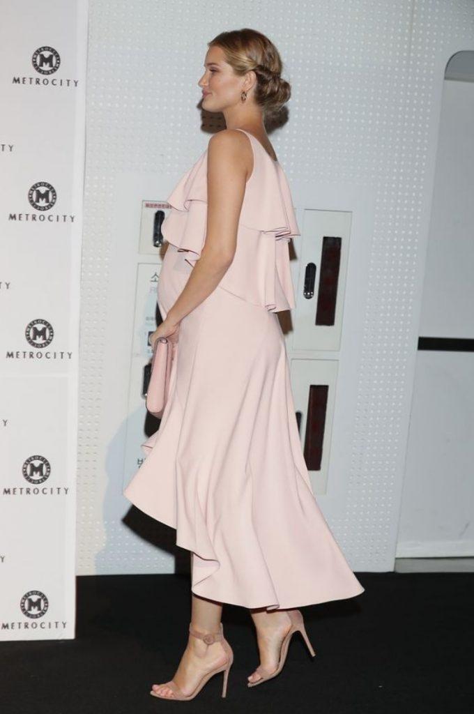 Rosie Huntington Whiteley Maternity Evening Dress