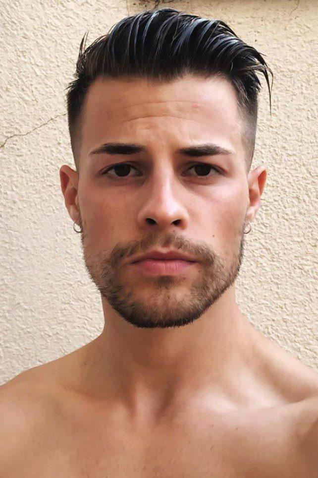 Üstler Uzun Yanlarda sıfır erkek saç stili