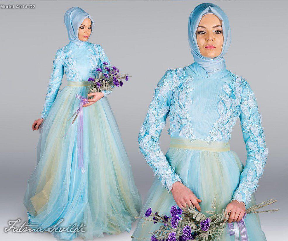 Fatma Sevildi Turkuaz Nişanlık Abiye Modeli