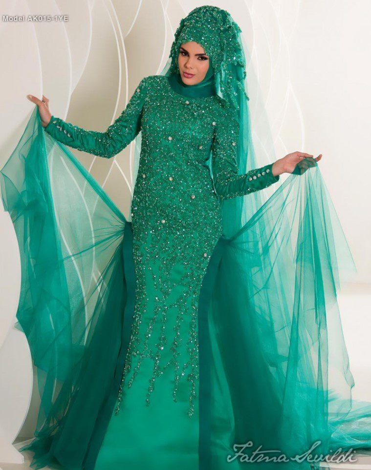 Fatma Sevildi Yeşil Nişanlık Modeli