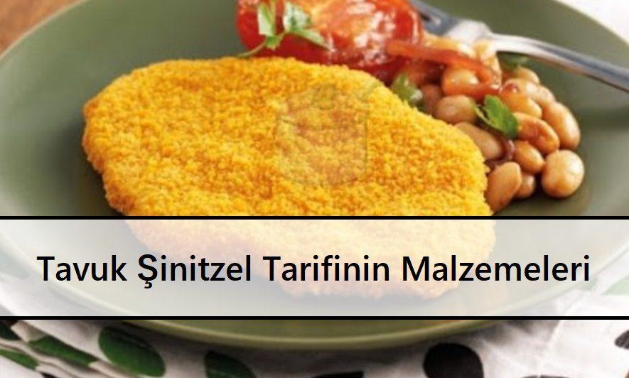 Tavuk Şinitzel Tarifinin Malzemeleri