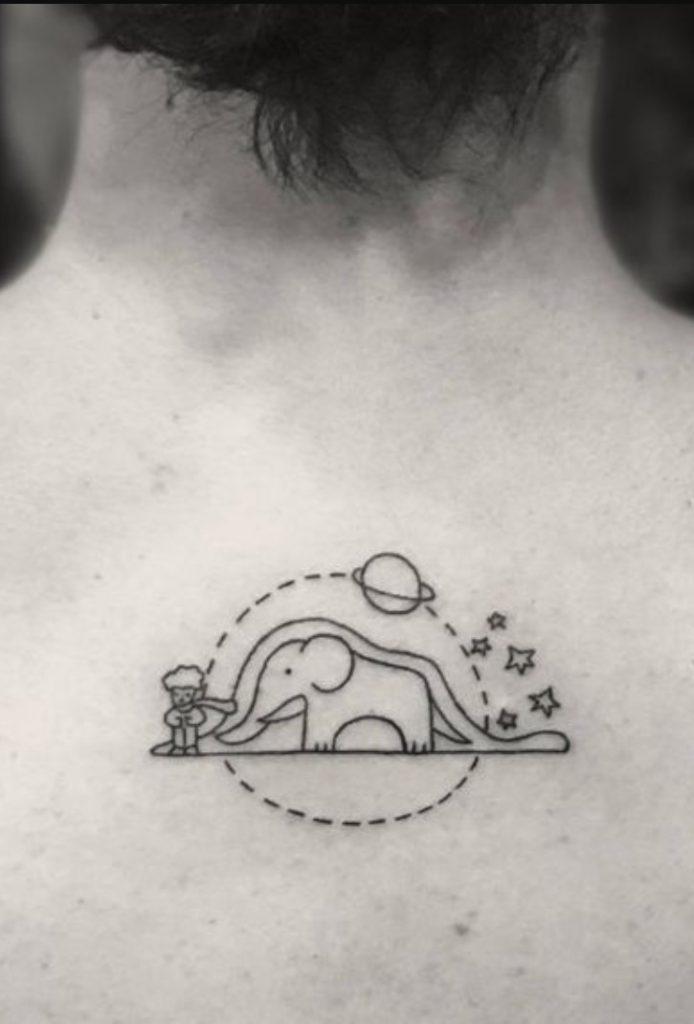 Boyun Arkası Küçük Dövme
