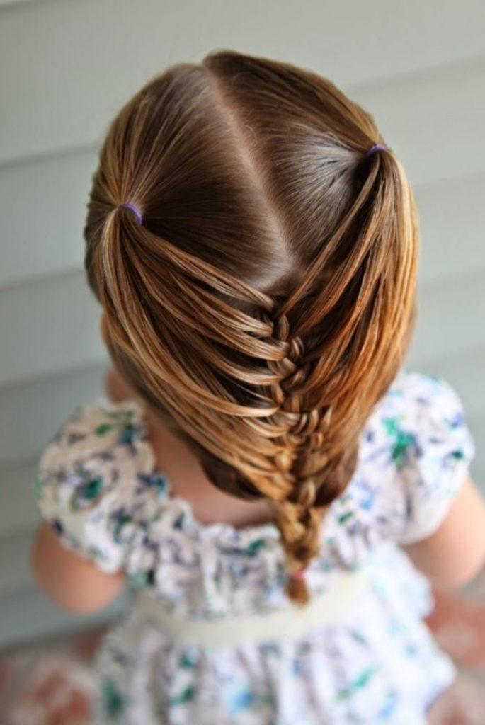 Örgülü Çocuk Kız Saç Modeli