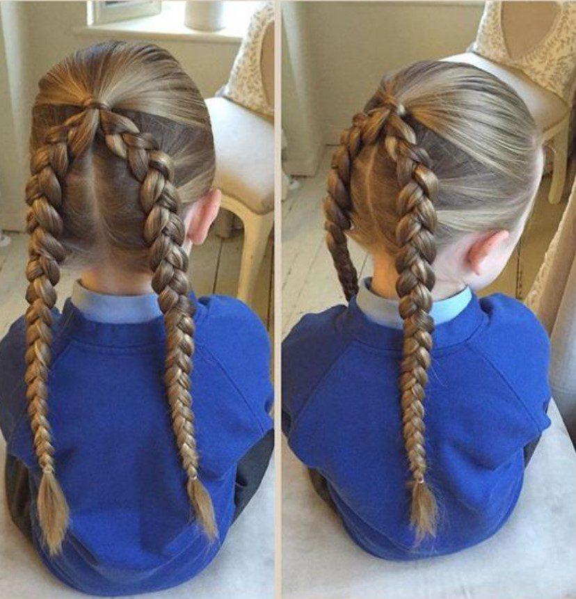 Uzun Saça İkili Örgü Saç